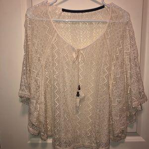 Ivory BoHo lace top